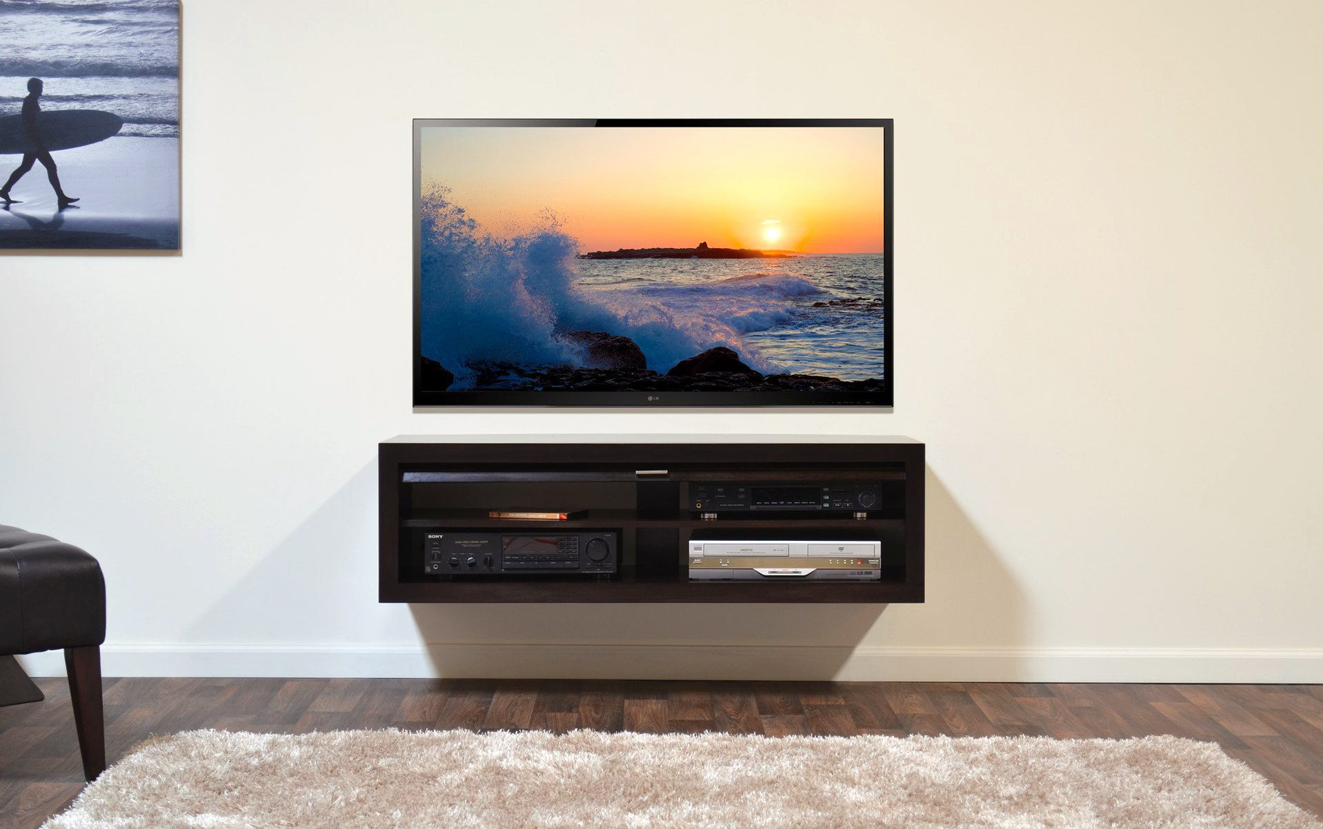 minimalist floating tv stand  eco geo espresso. minimalist floating tv stand  eco geo espresso  woodwaves