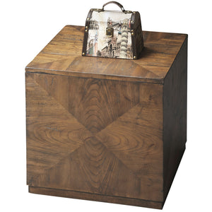 Modern Wood Square Cube Coffee End Table