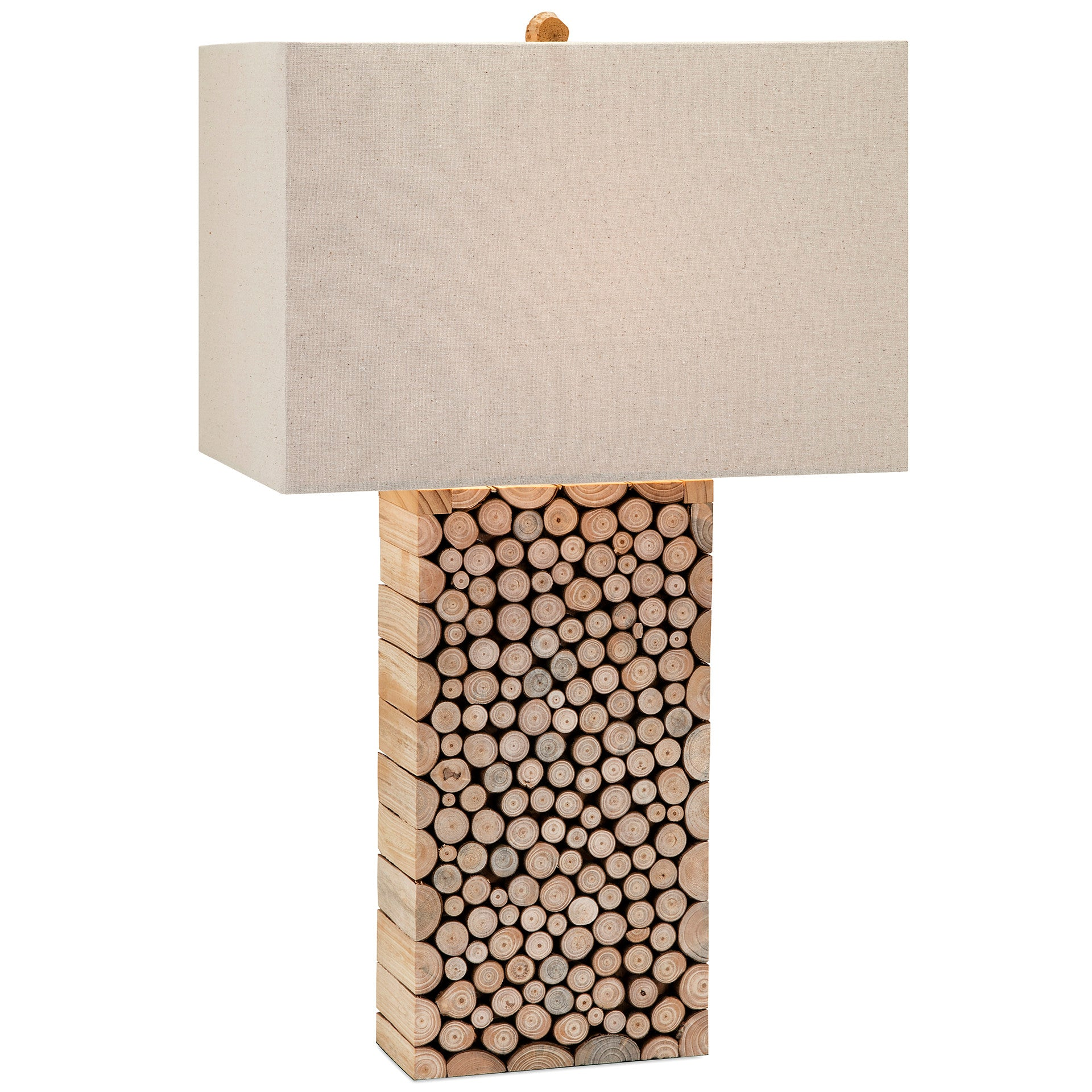 Modern Wood Tree Branch Table Lamp