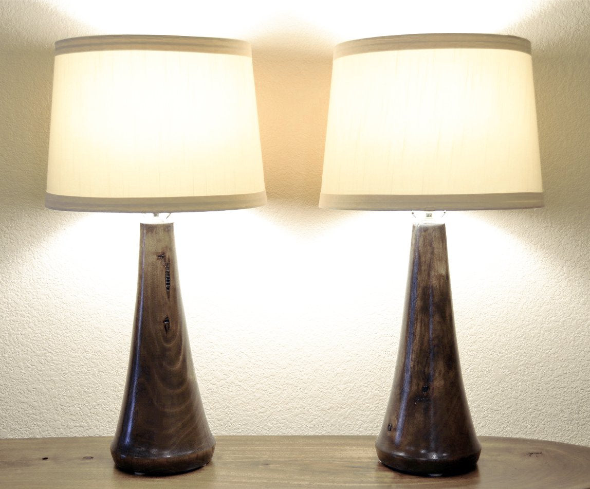 Turned Wood Table Lamps Handcrafted California U.S.A.   Lighthouse   Kona