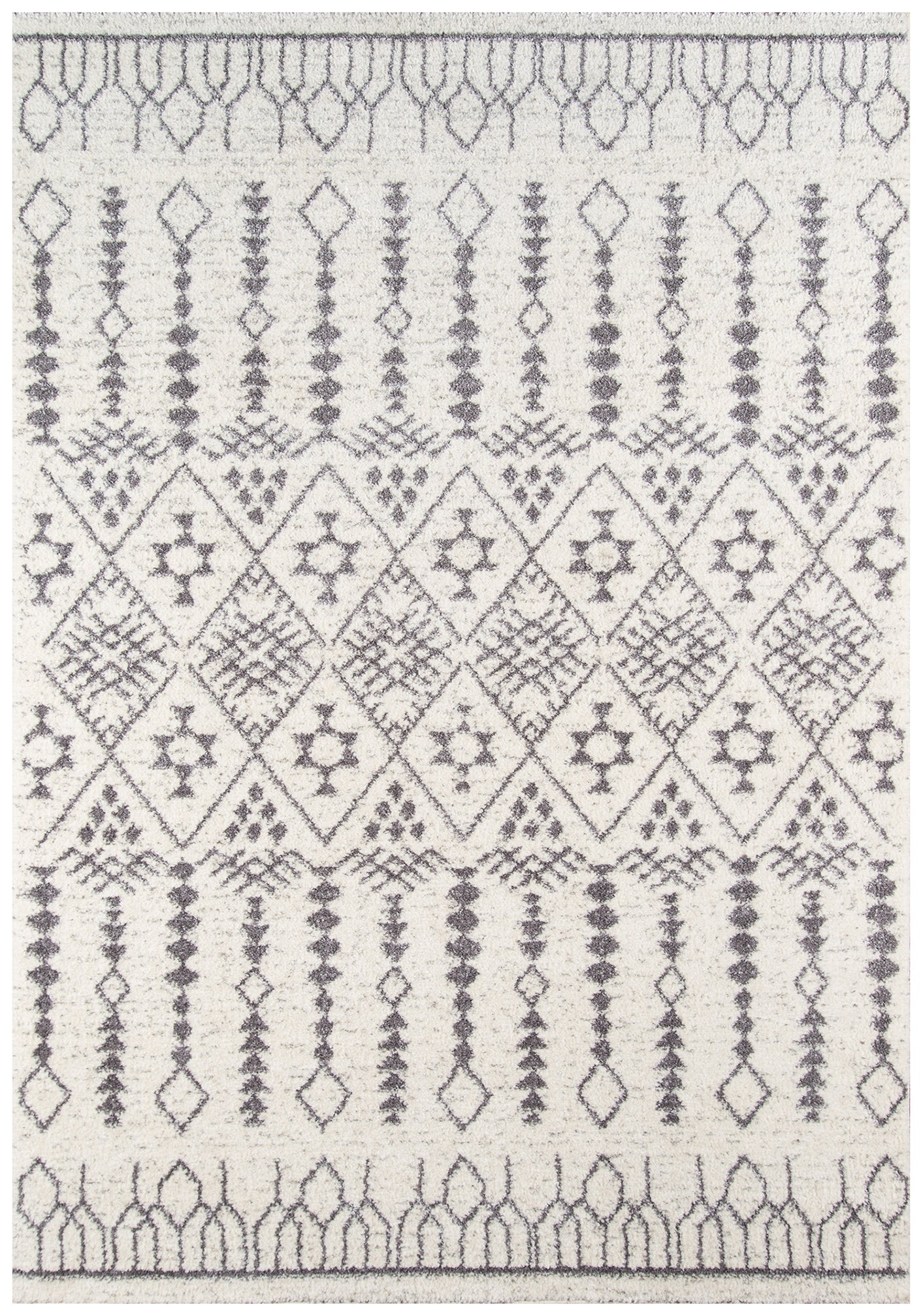 Moroccan Bohemian Ivory Area Rug