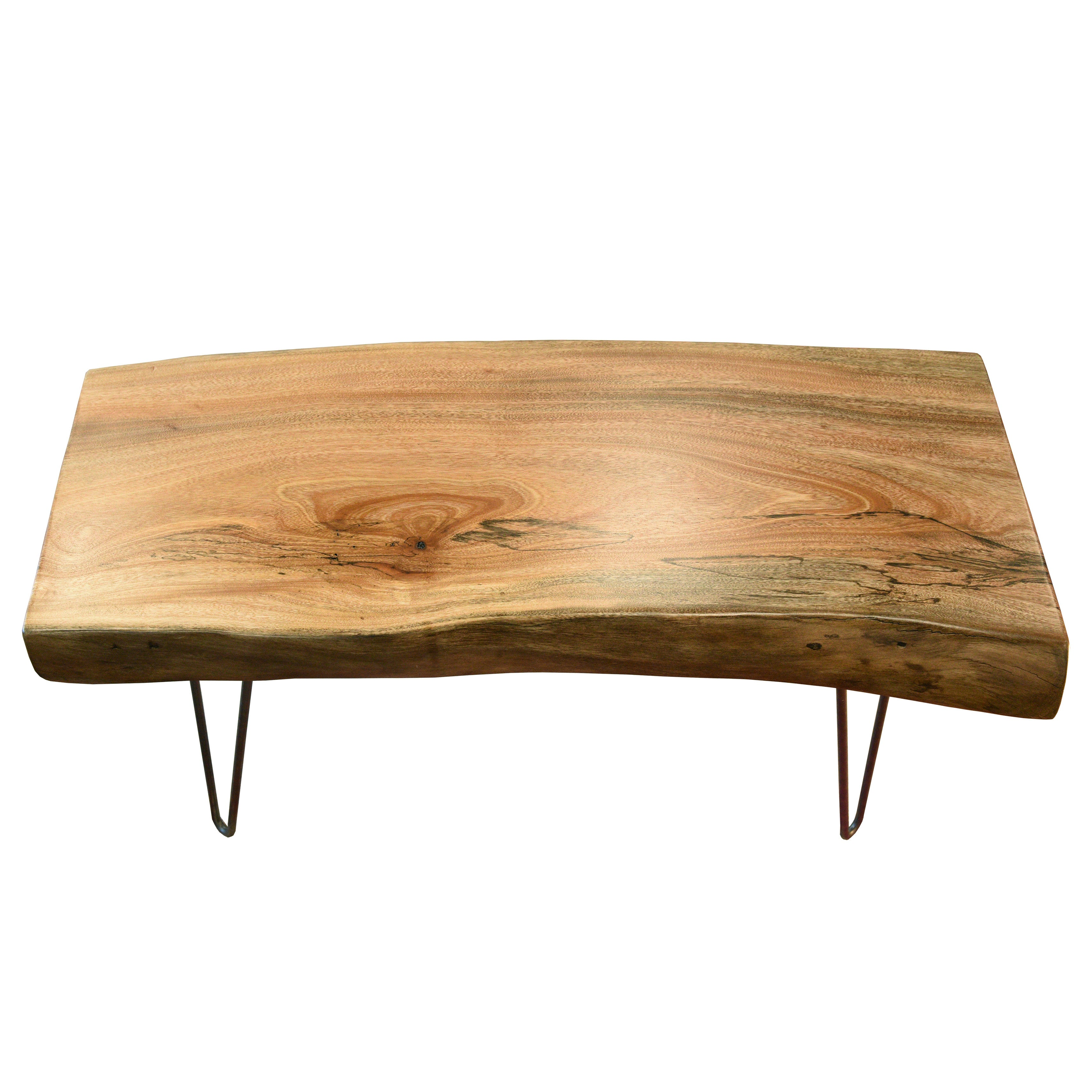 natural retro live edge coffee table - woodwaves