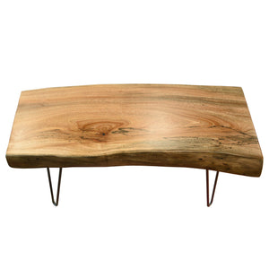 Natural Retro Live Edge Coffee Table