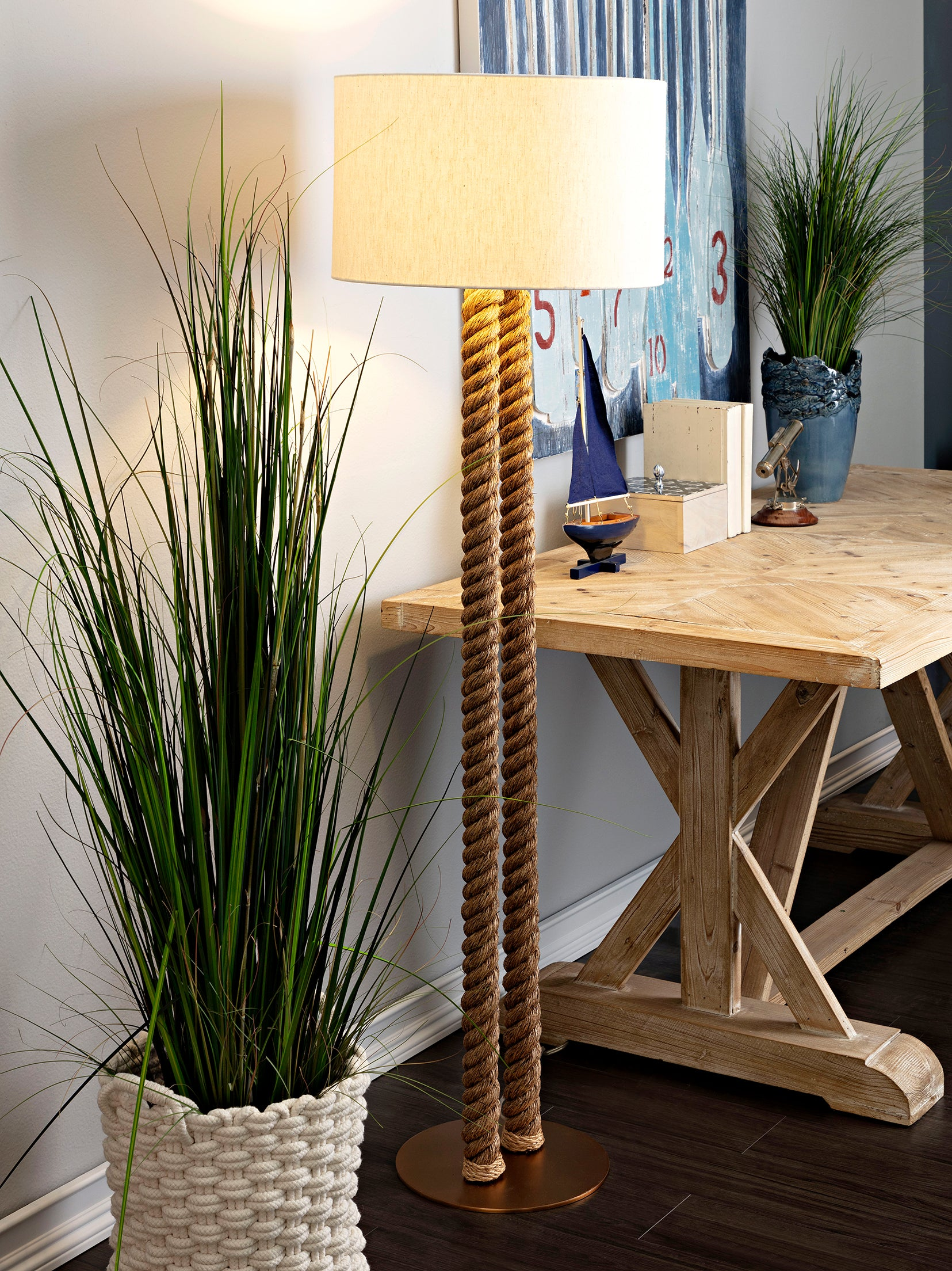 Coastal Nautical Rope Floor Lamp