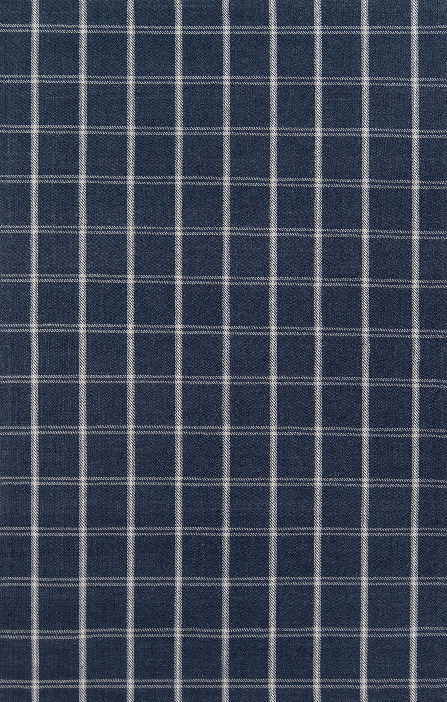 Navy Blue Plaid Tartan Wool Area Rug - Erin Gates - Marlborough