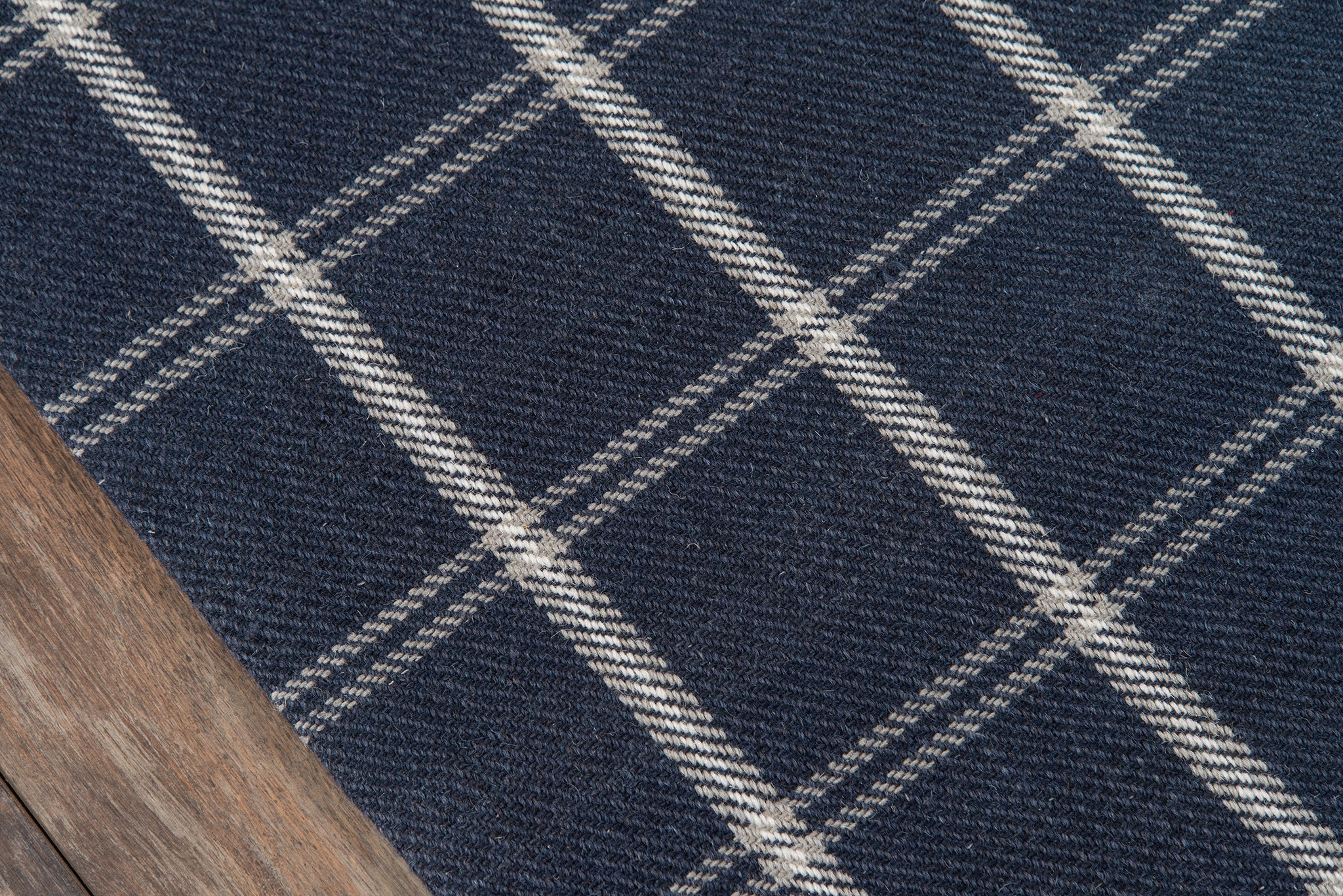Navy Blue Plaid Tartan Wool Area Rug Erin Gates