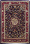 Blue and Red Traditional Pattern Rug
