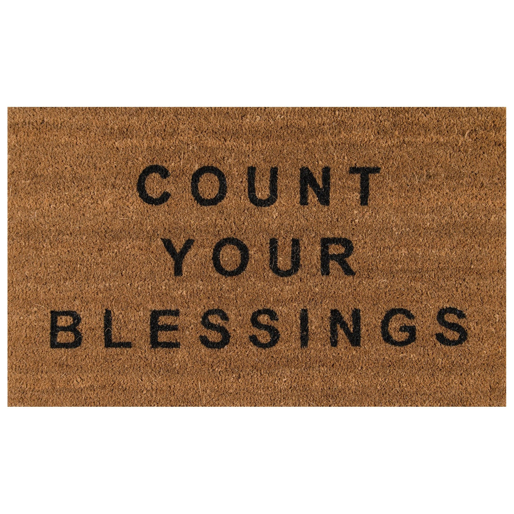 modern doormats  woodwaves - count your blessings doormat  novogratz natural