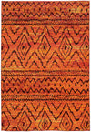 Orange Yellow Fade Zig Zag Area Rug