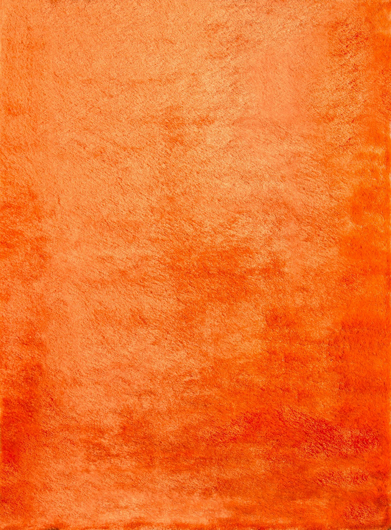 Orange Plush Luxurious Mid Century Modern Shag Rug