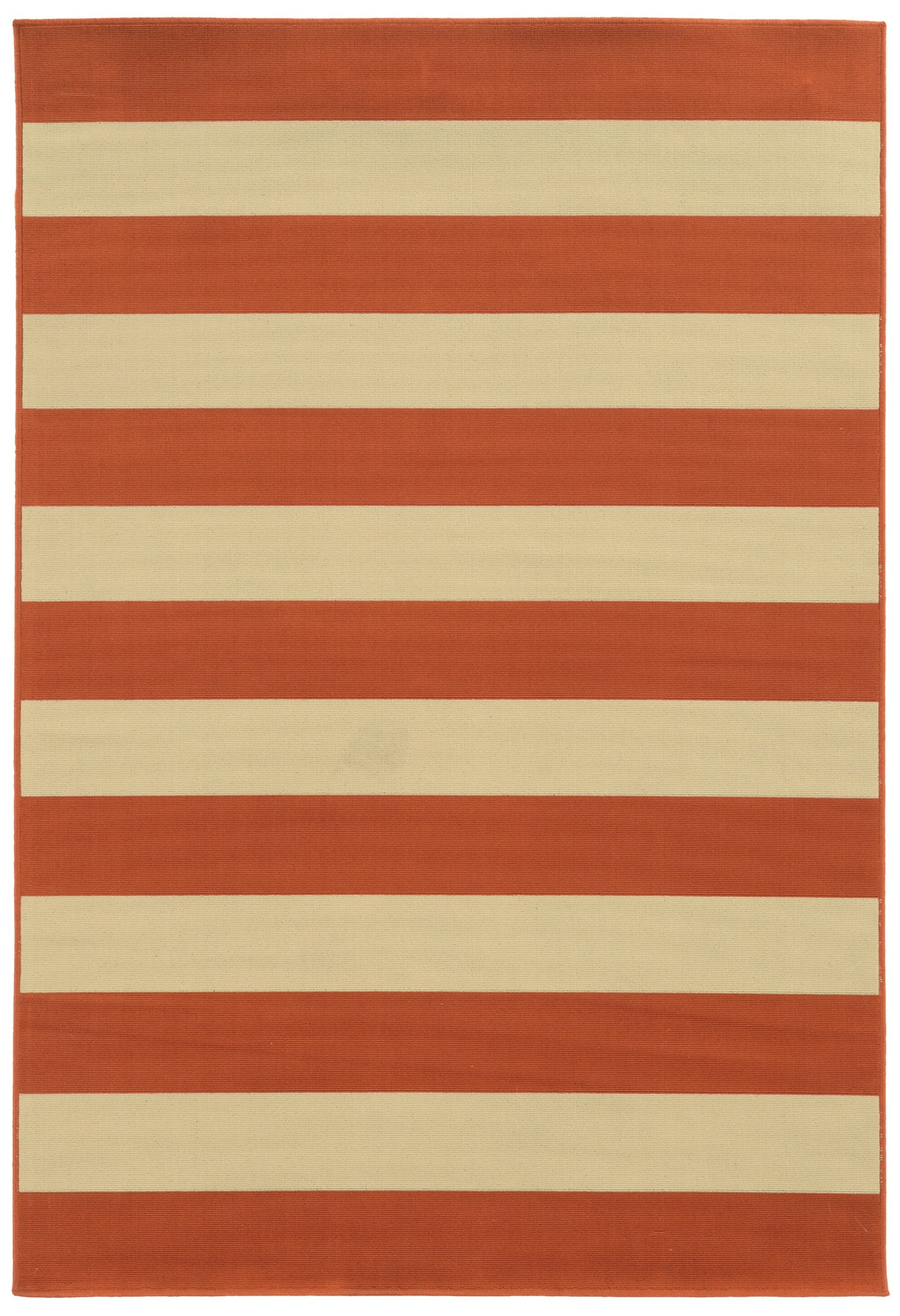 modern outdoor rugs  woodwaves - orange striped outdoor rug