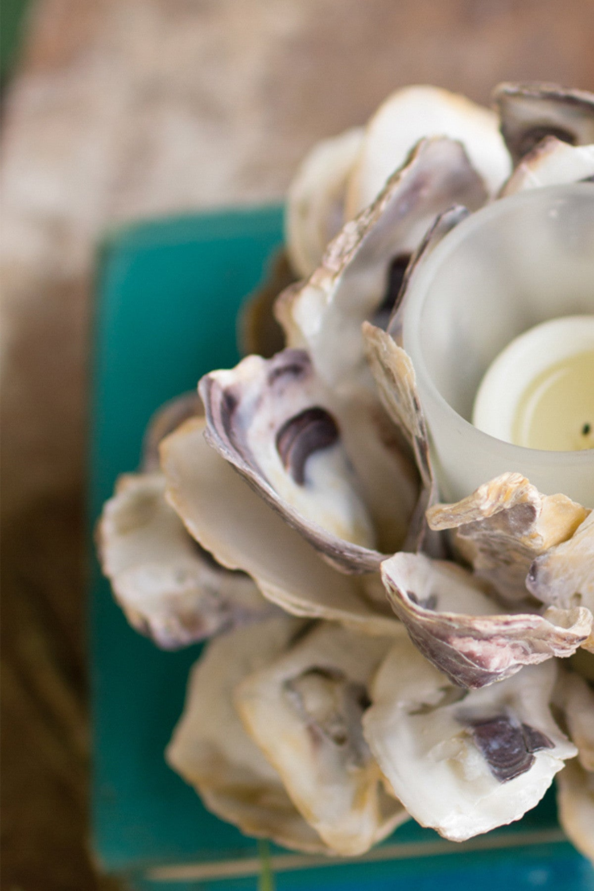 Oyster Shell Votive Tealight Candle Holder