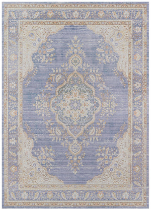 Periwinkle Lavender Blue Shabby Chic Rug