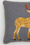 Hand Stitched Standing Deer Pillow