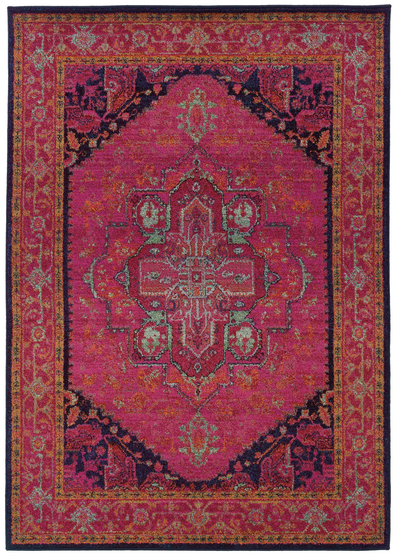 High Quality Pink Moroccan Style Rug