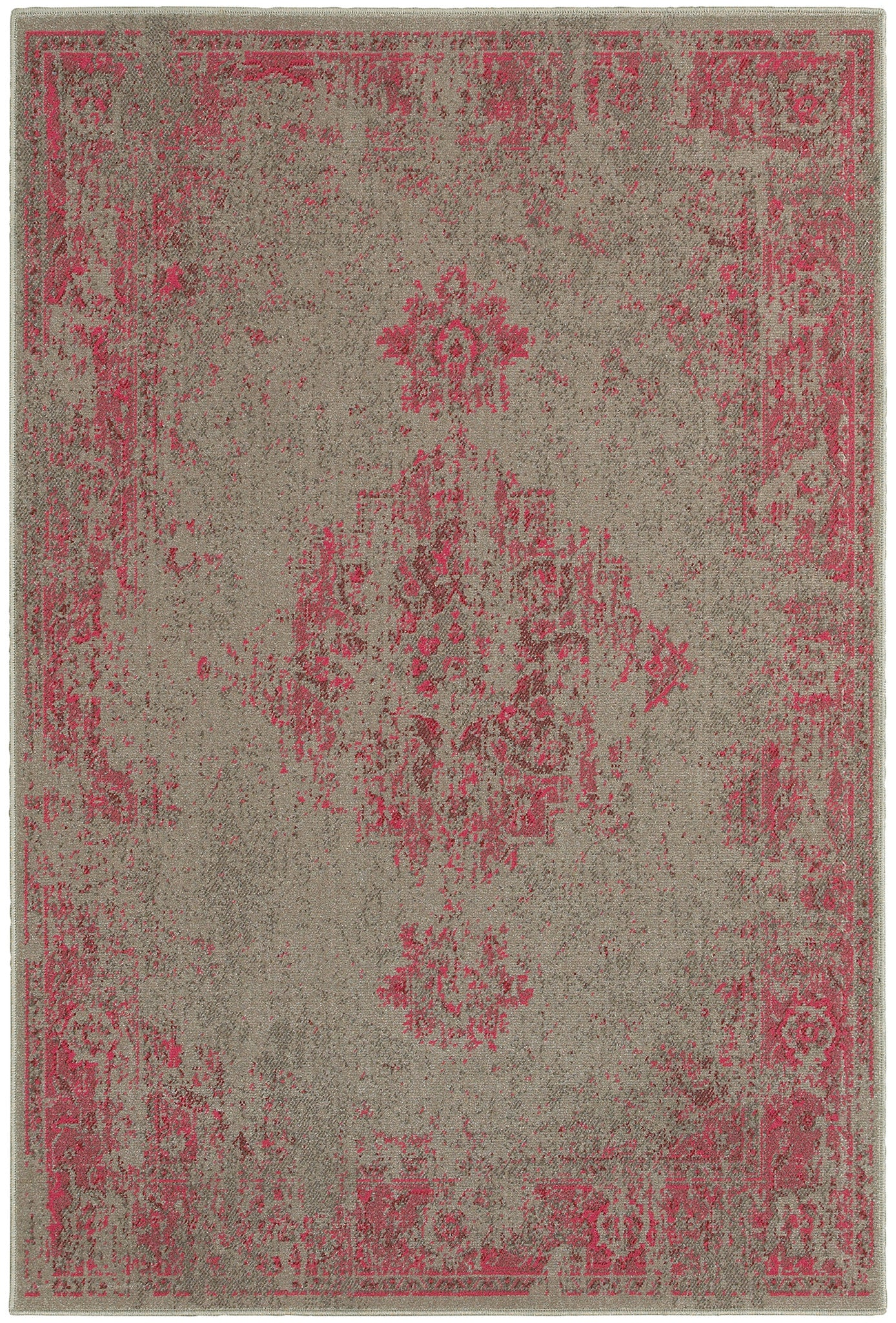 Pink Gray Faded Rug Woodwaves