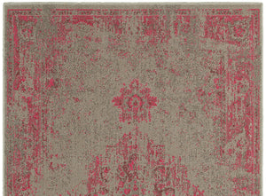 Pink Gray Faded Rug