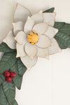 Poinsettia Painted Metal Wreath