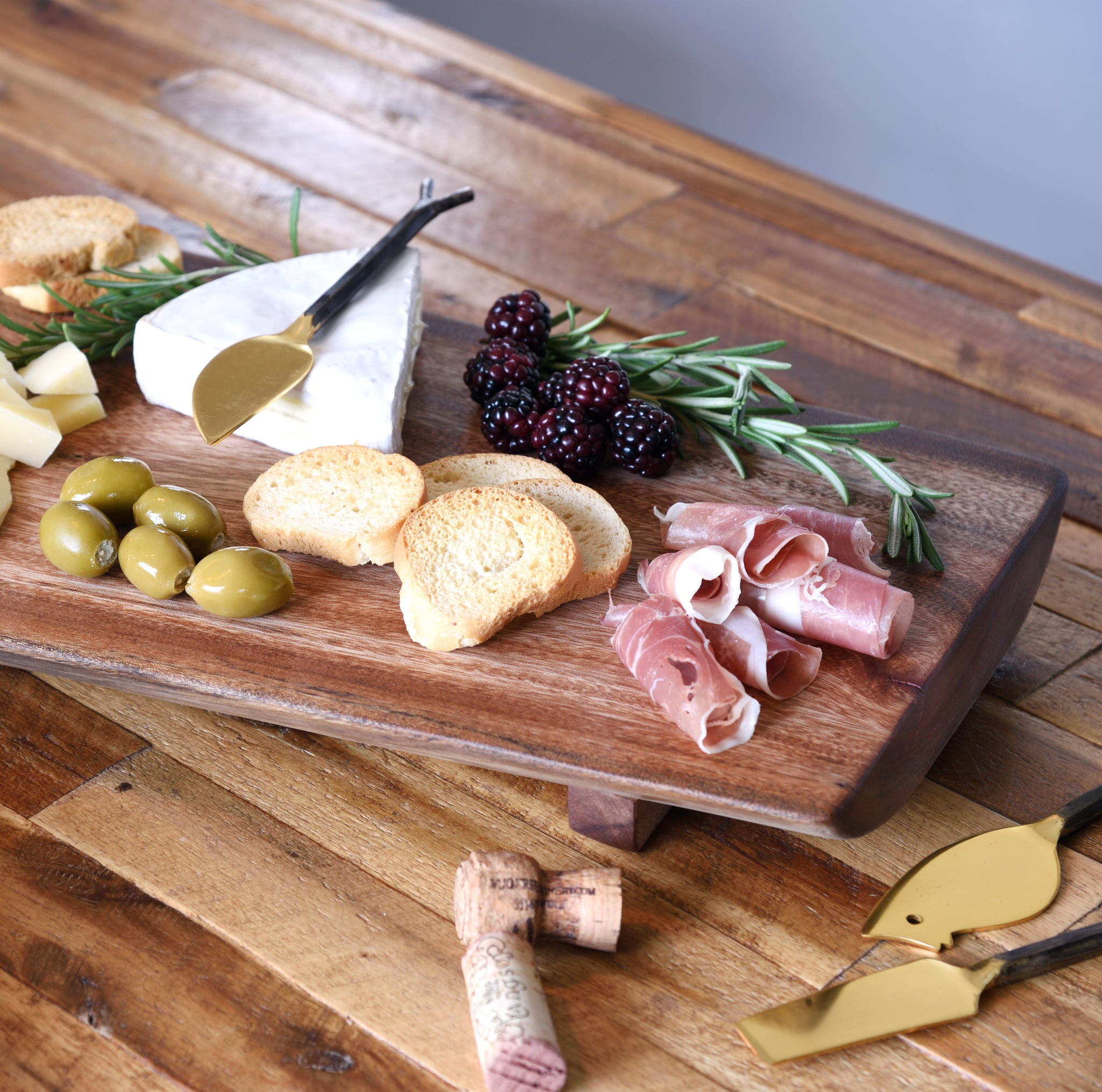 Premium Large Reclaimed Wood Live Edge Cheese Board Tray