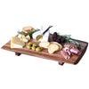 Premium Medium Reclaimed Wood Live Edge Cheese Board Tray - Taper Down