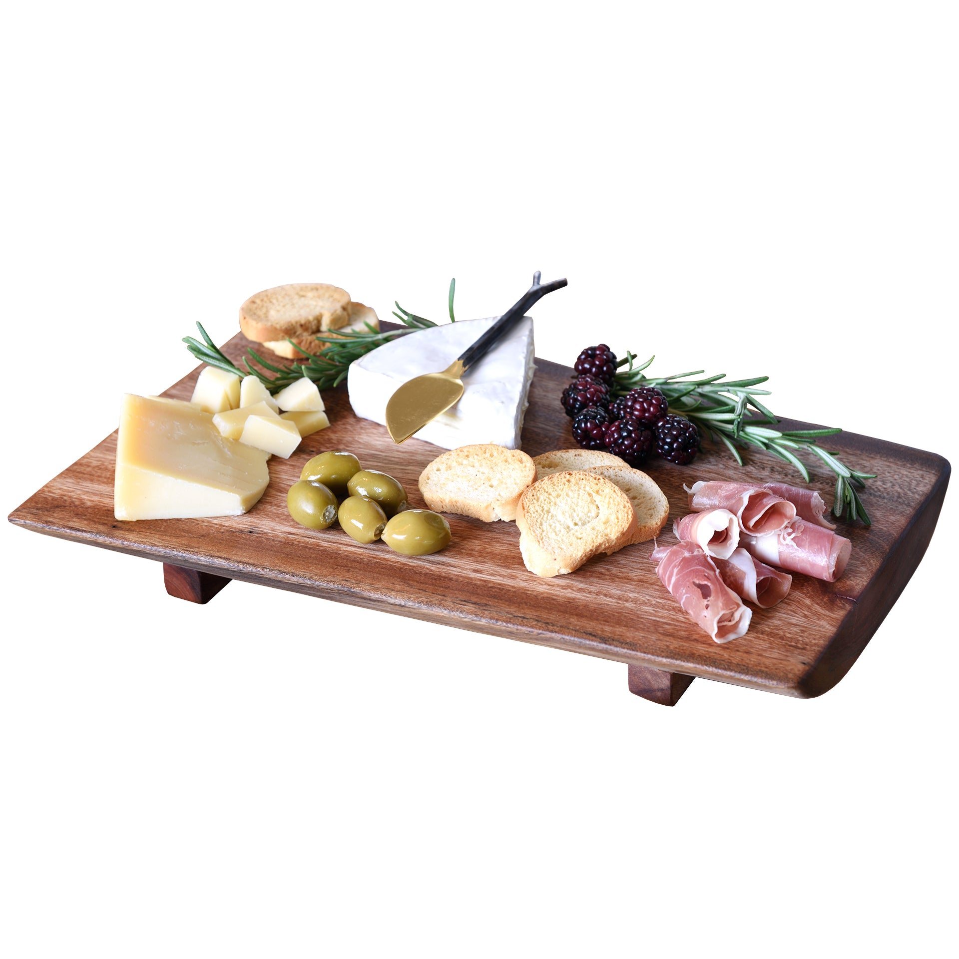 Premium Medium Reclaimed Wood Live Edge Cheese Board Tray
