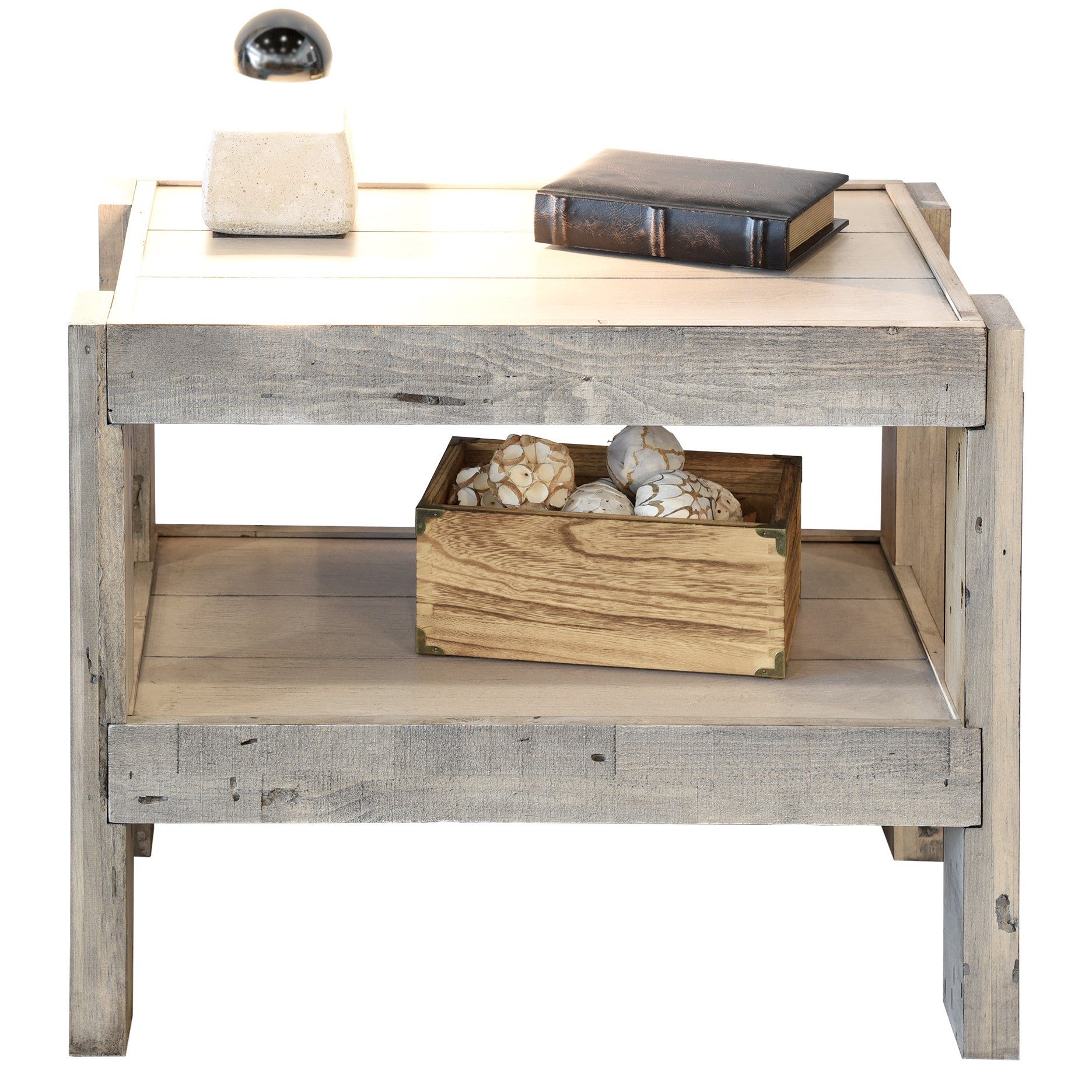 Beachy End Tables Full Size Reclaimed Wood Pallet End Table