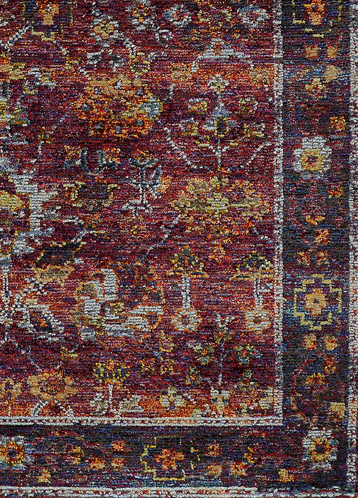 Overdyed area rugs woodwaves for Vintage style area rugs