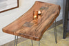 Reclaimed Live Edge Slab End Table