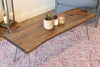 Reclaimed Live Edge Slab Coffee Table