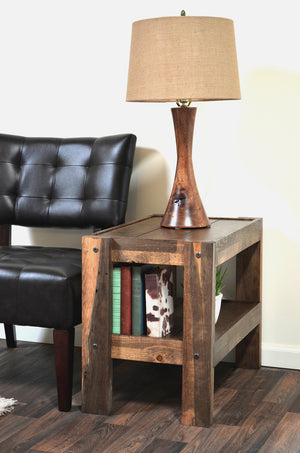 Rustic Reclaimed Pallet Wood Style Entertainment Center TV Stand & Coffee Table - presEARTH Spice