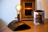 Half Dome Reclaimed Wood Copper Edison Table Lamp