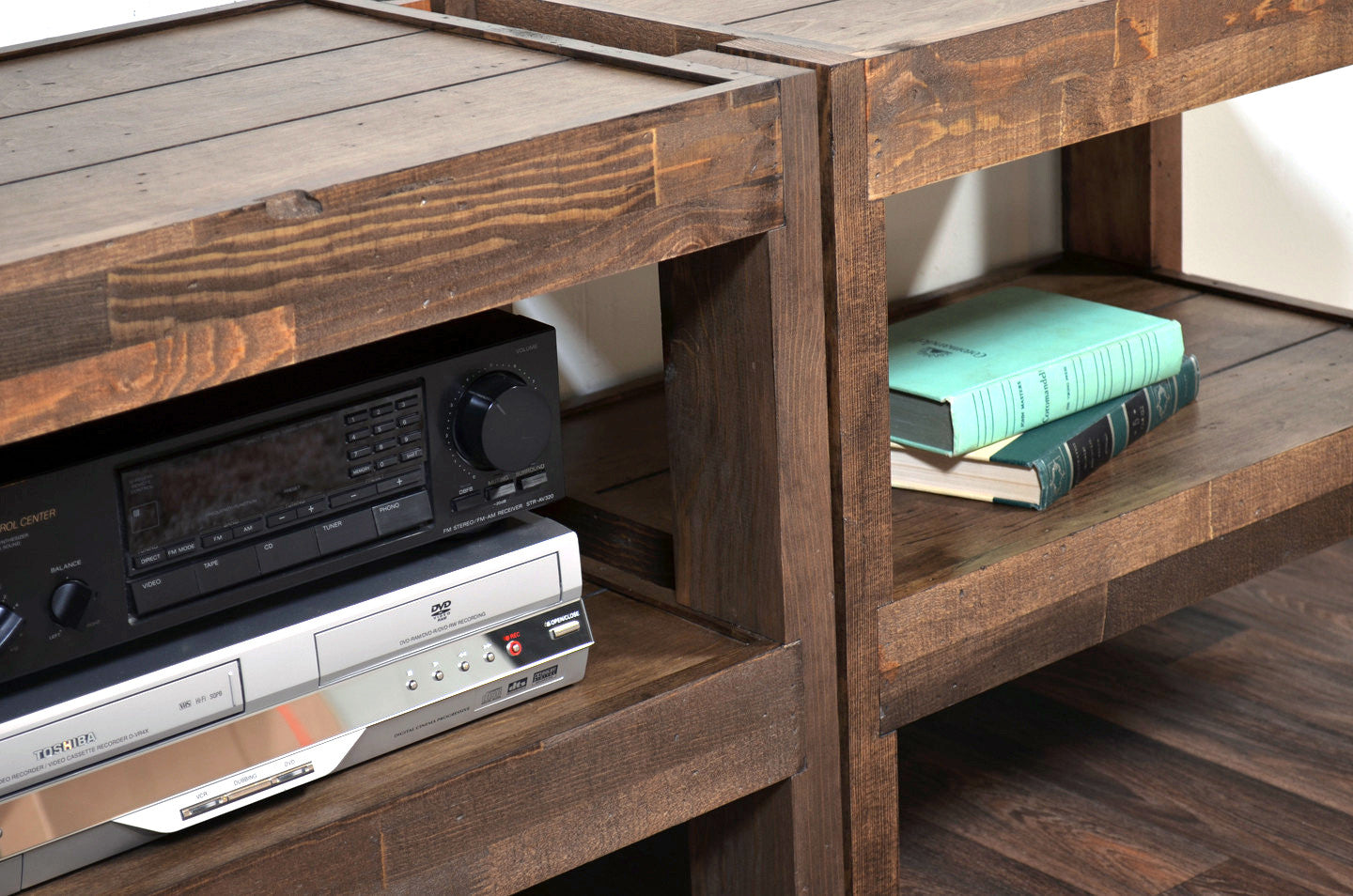 Rustic Reclaimed TV Stand Entertainment Center - presEARTH Spice - Modern, Mid Century, Industrial, Rustic Furniture & Decor Woodwaves