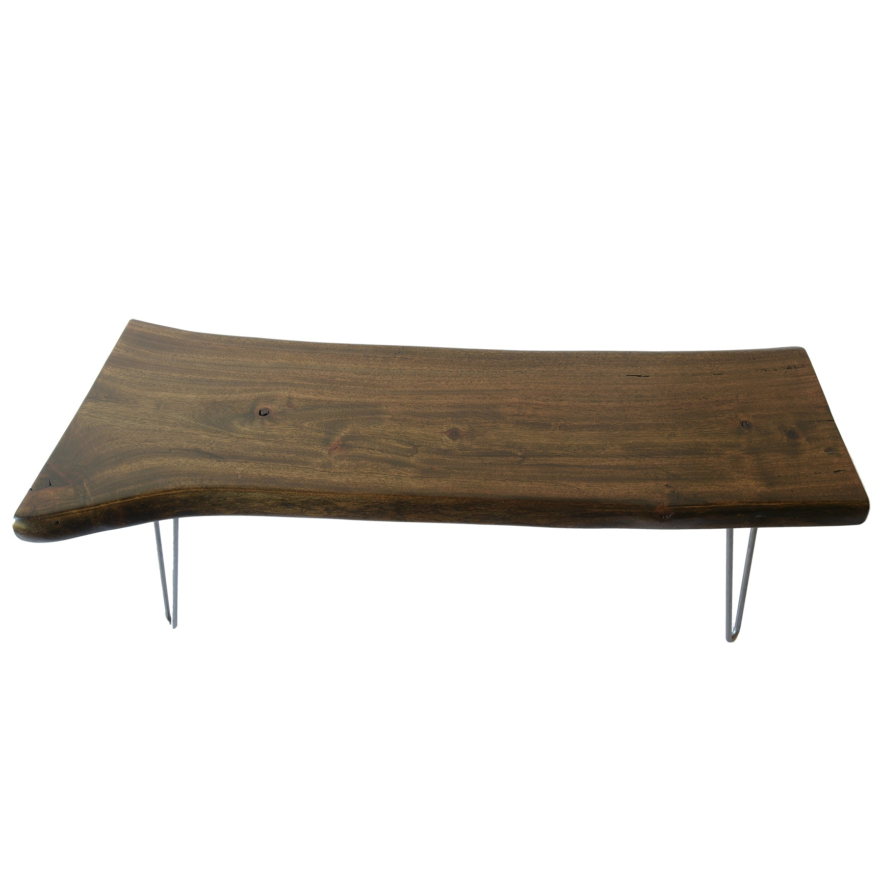 Reclaimed Rustic Wood Natural Tree Edge Coffee Table