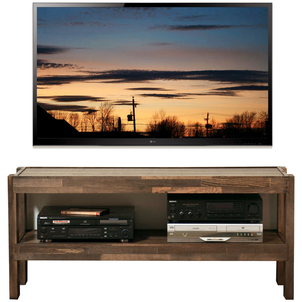 Rustic Reclaimed Barn Wood Style Tv Stand Presearth