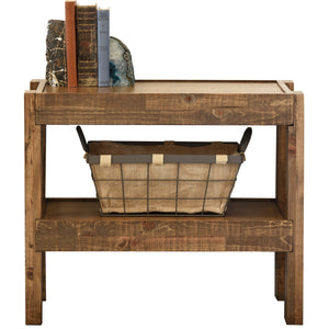Reclaimed Rustic Farmhouse Pallet Wood Style End Table / Nightstand - presEARTH Spice