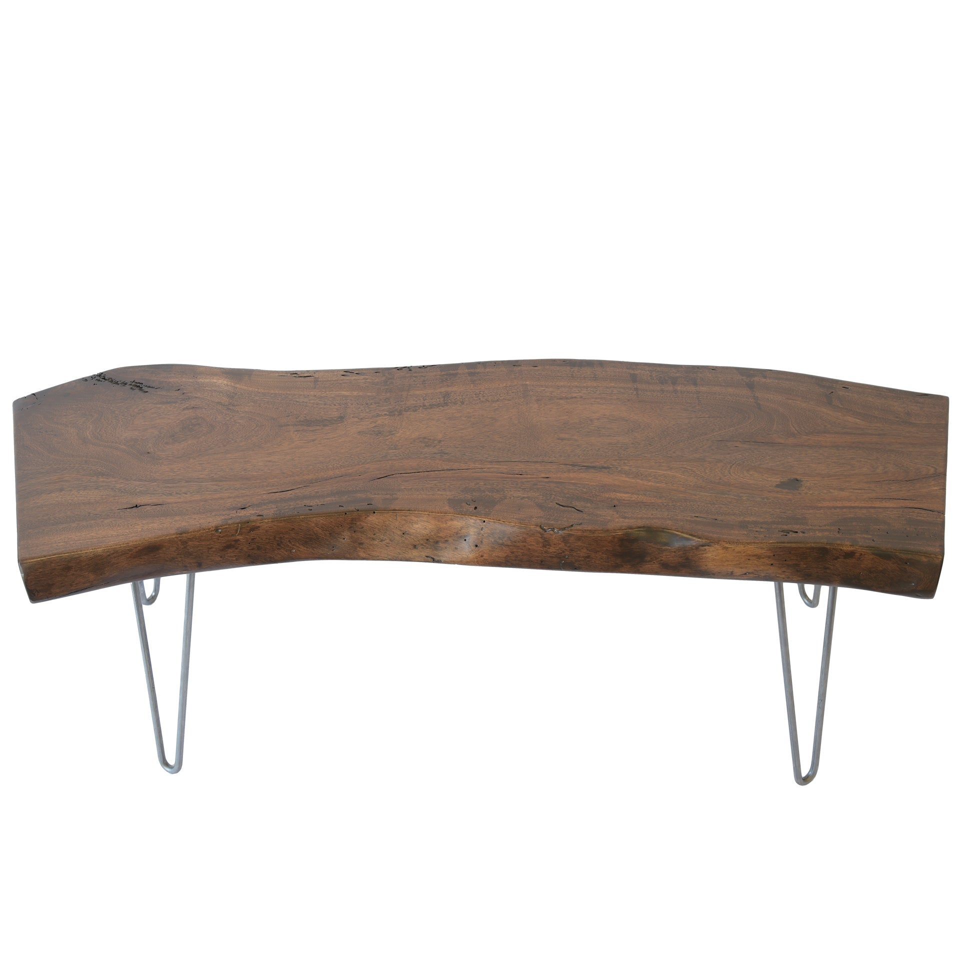Reclaimed Wood Live Edge Slab Rustic Solid Wood Coffee Table