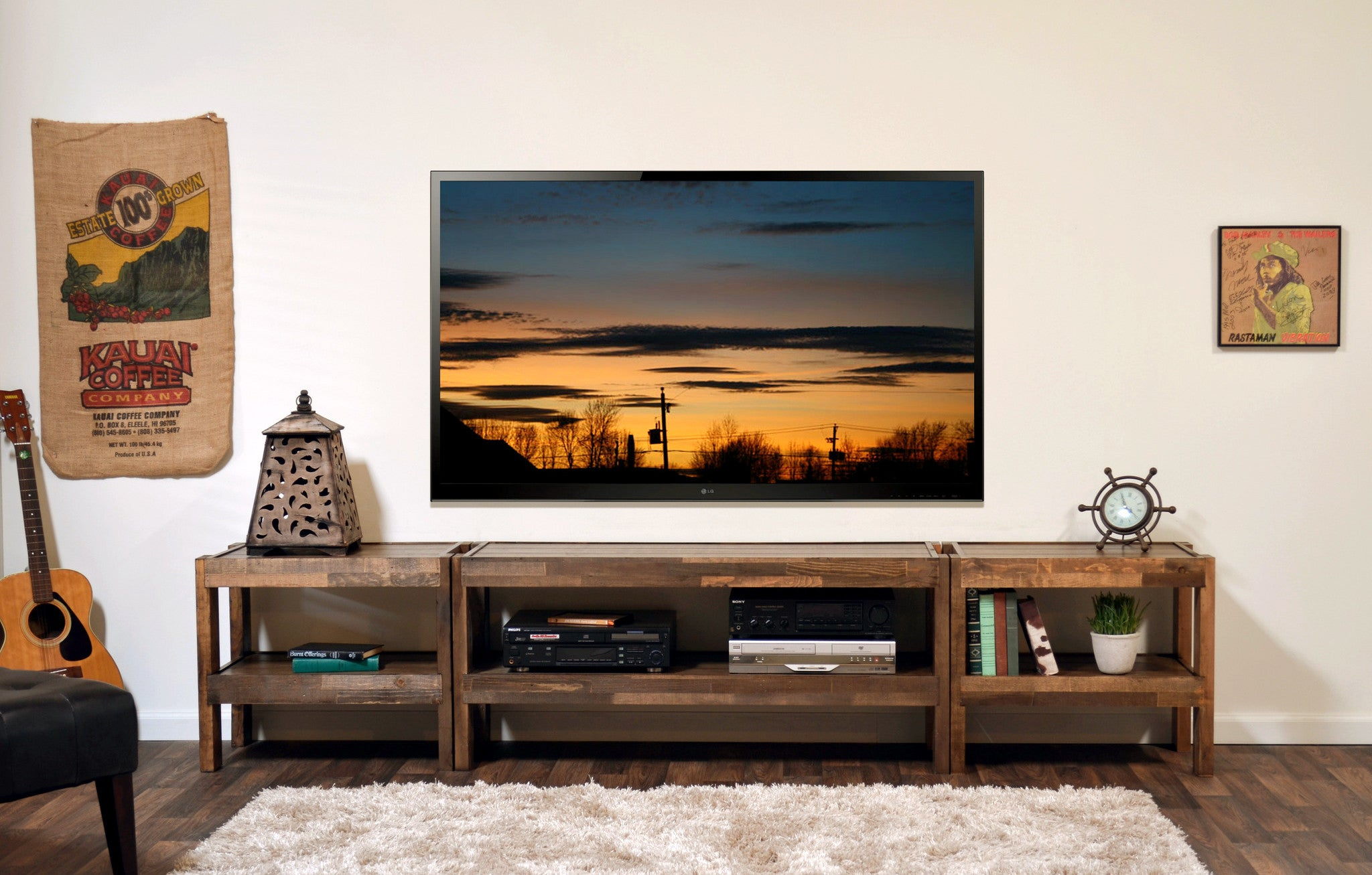 Rustic Reclaimed Tv Stand Entertainment Center Presearth Spice Woodwaves