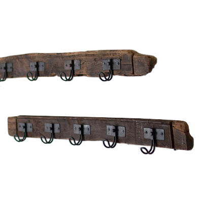 Recycled Rustic Wood Coat Rack