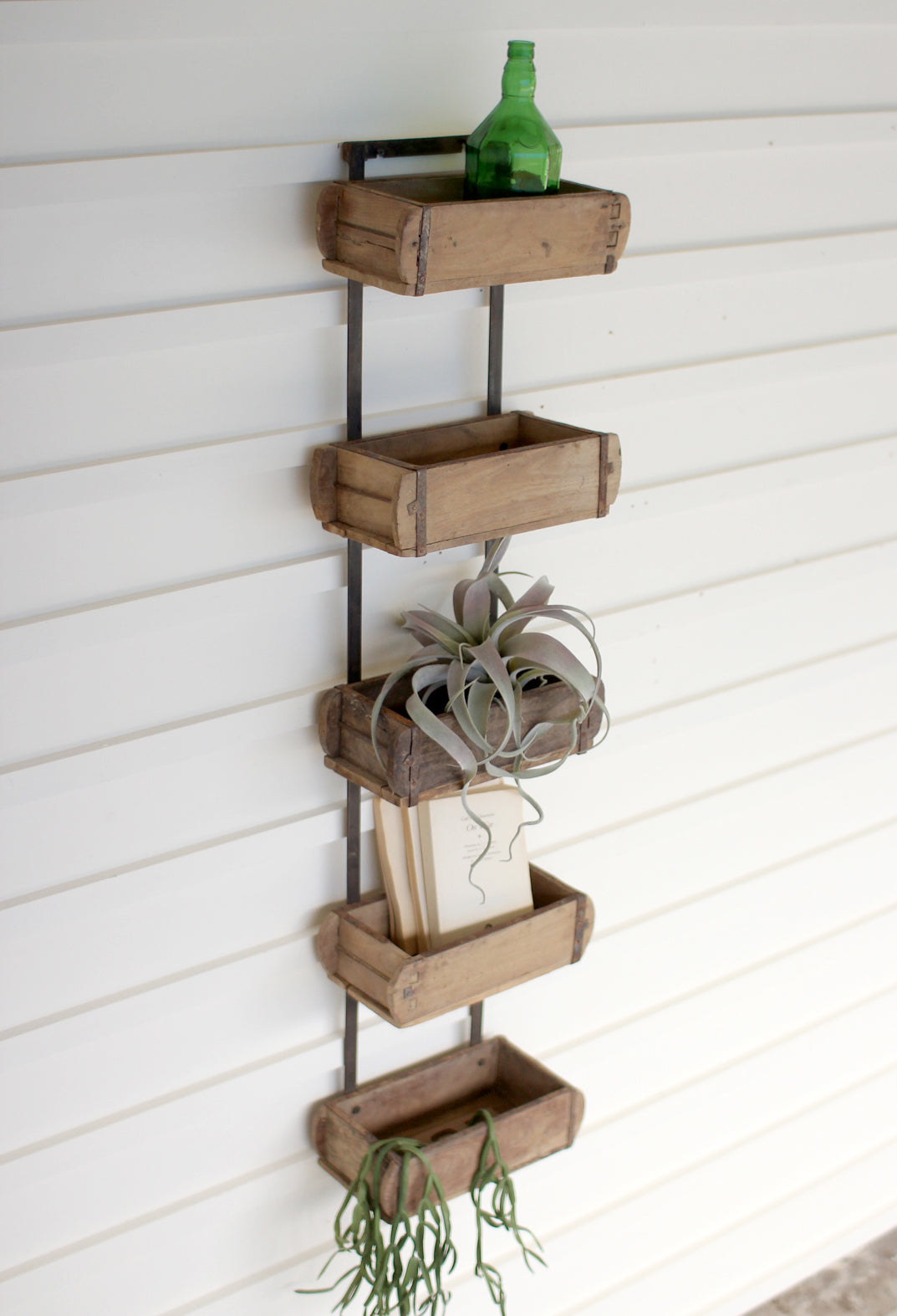 Recycled Wood Brick Mold Floating Wall Shelf