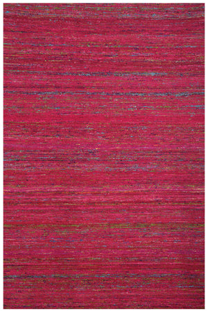 Red Fuchsia Flat Weave Handcrafted Wool Indian Rug