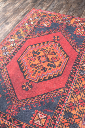 Red Orange Southwest Boho Rug