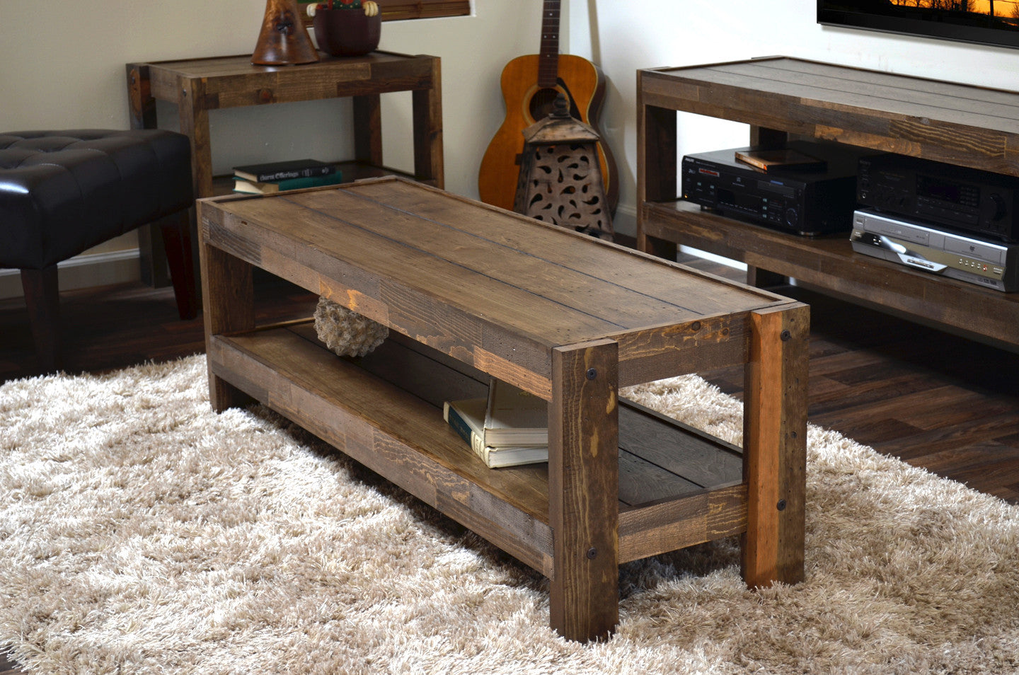 Rustic reclaimed pallet wood style entertainment center tv stand rustic reclaimed pallet wood style entertainment center tv stand coffee table presearth spice geotapseo Image collections