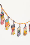 Repurposed Kantha Fabric Christmas Stocking Garland