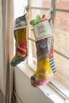 Repurposed Kantha Christmas Stocking