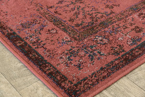 Crimson Red Overdyed Style Area Rug