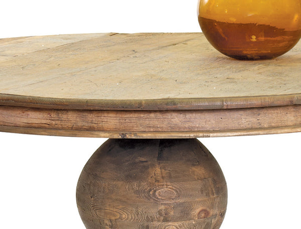 Round Reclaimed Wood Rustic Dining Table Woodwaves