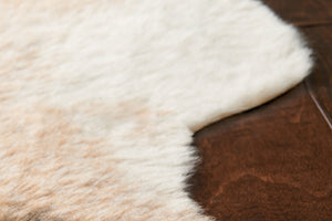 Tan & Brown Spot Cowhide Rug