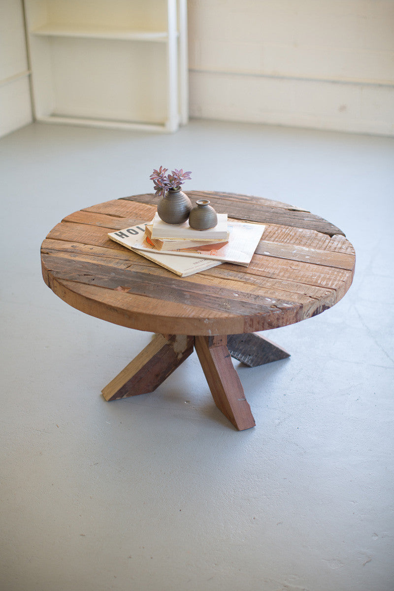 Rustic Recycled Wood Coffee Table