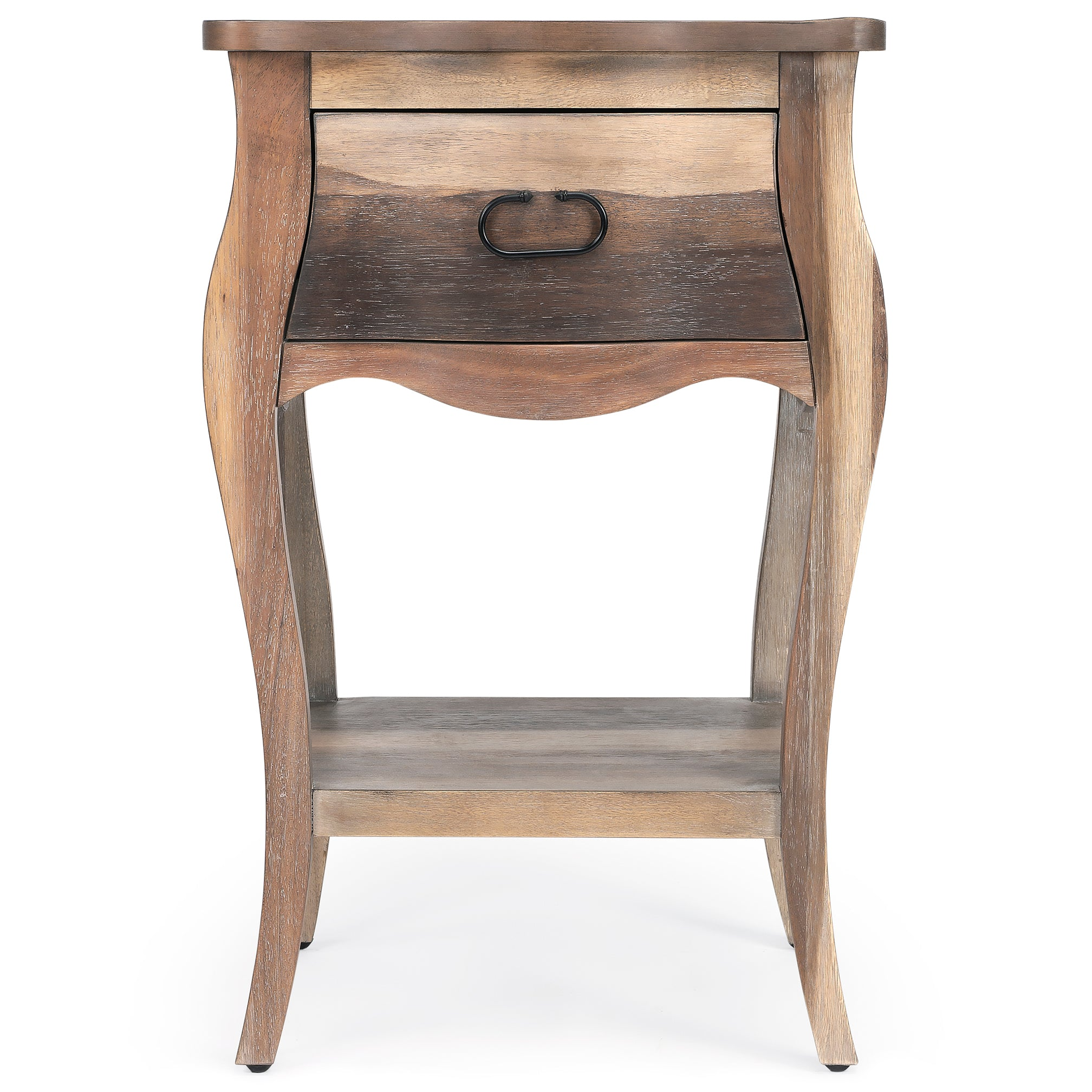 Rustic Wood Farmhouse Nightstand End Table