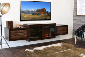 Fireplace TV Stand Floating Wall Mount - ECO GEO Espresso